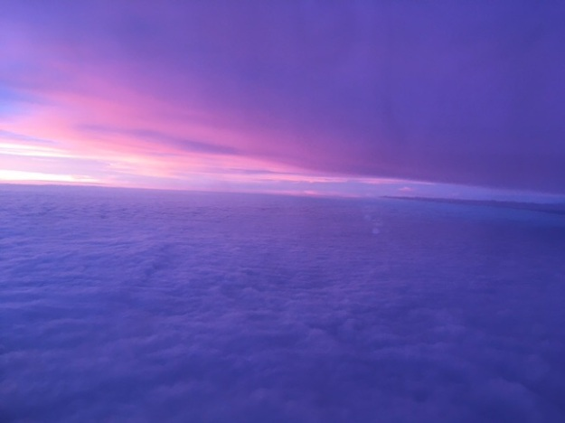 Out the plane window